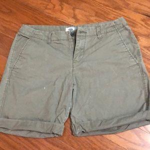 Khaki roll-up shorts